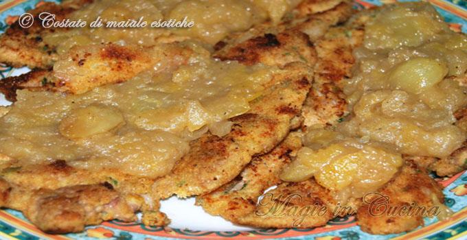 Costate di maiale in salsa di frutta magie in cucina for Ricette esotiche