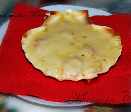 Gamberetti gratinati con salsa Mornay