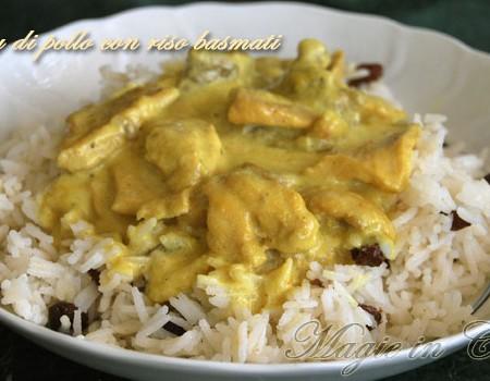 Curry di pollo con riso basmati al cocco