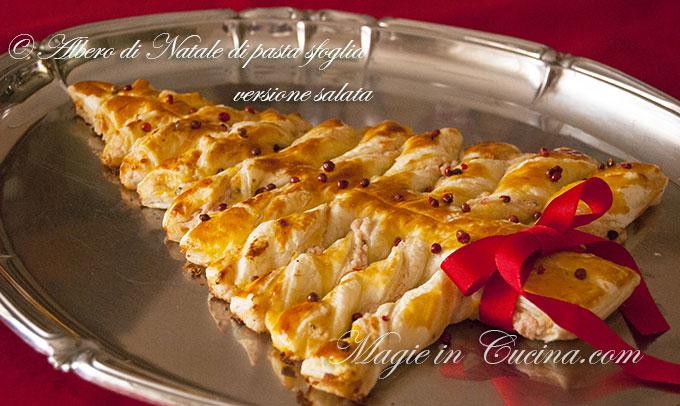 abbastanza Ricetta per albero di Natale di sfoglia, dolce e salato | NH78