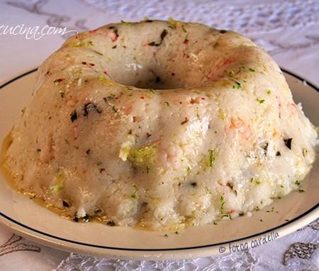 Sformato di riso basmati ai gamberetti
