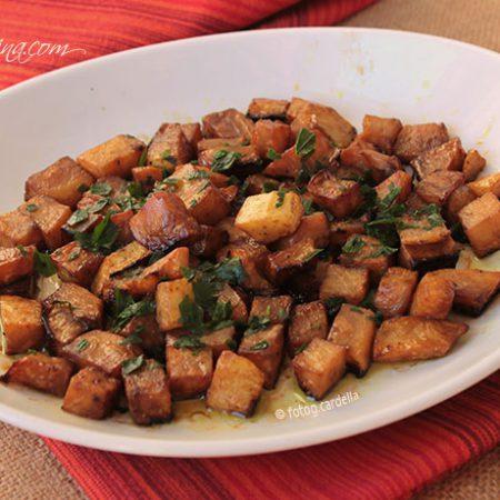 Sedano rapa al curry con salsa di soia